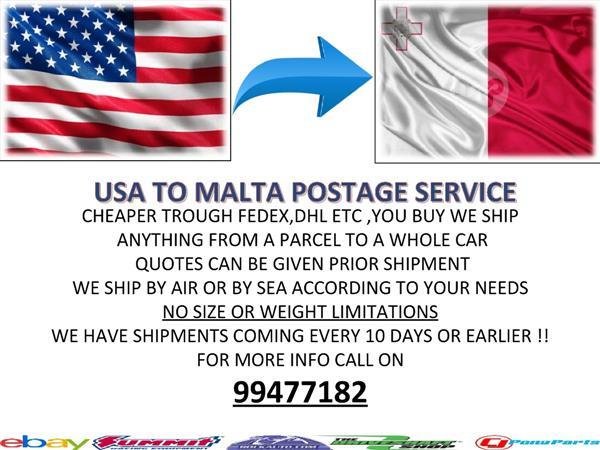 CHEAPER SHIPPING FROM USA ! FREE QUOTES | Maltapark