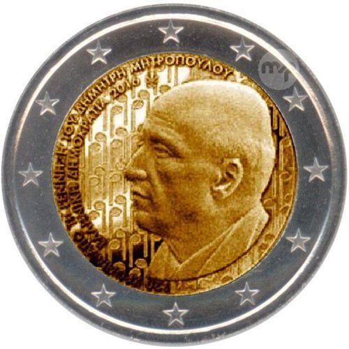 Dimitri Mitropoulos GREECE 2 EURO 2016 Commemorative Coin *UNCIRCULATED